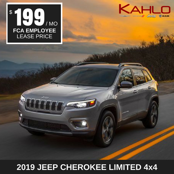 2019 Jeep Cherokee Limited Lease Deal $199 per month