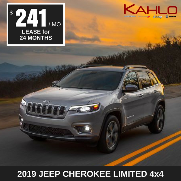 2019 Jeep Cherokee Limited Lease Deal $241 per month