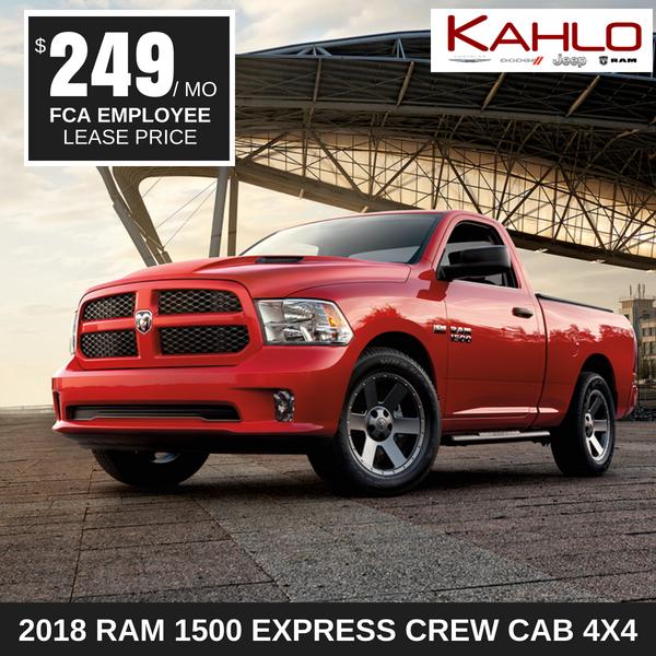2018 Ram 1500 Express Lease Deal $249 per month