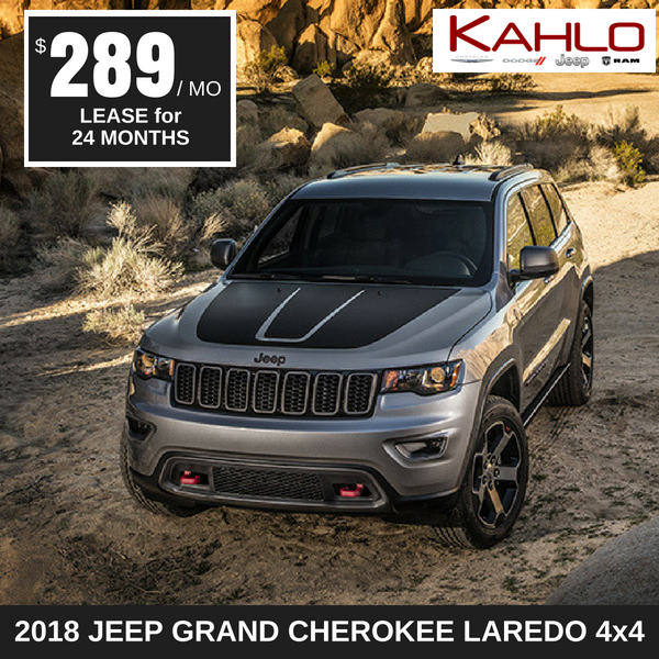 2018 Jeep Grand Cherokee Lease Deal $289 per month