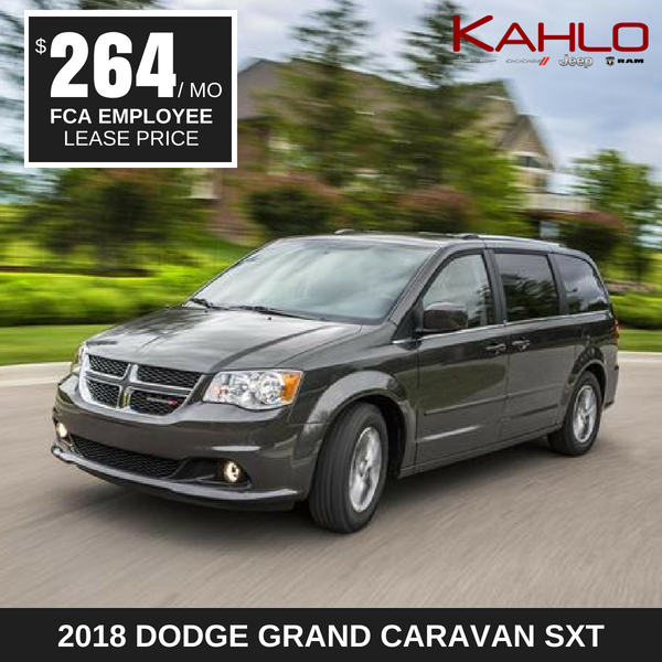 2018 Dodge Grand Caravan Lease Deal $264 per month