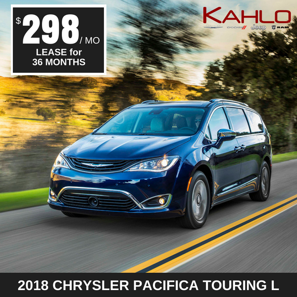 2018 Chrysler Pacifica Lease Deal $298 per month
