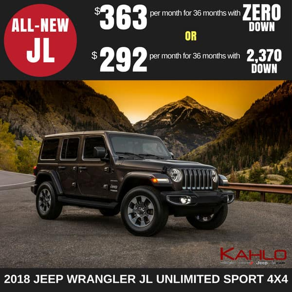 2018 Jeep Wrangler JL Lease Deal