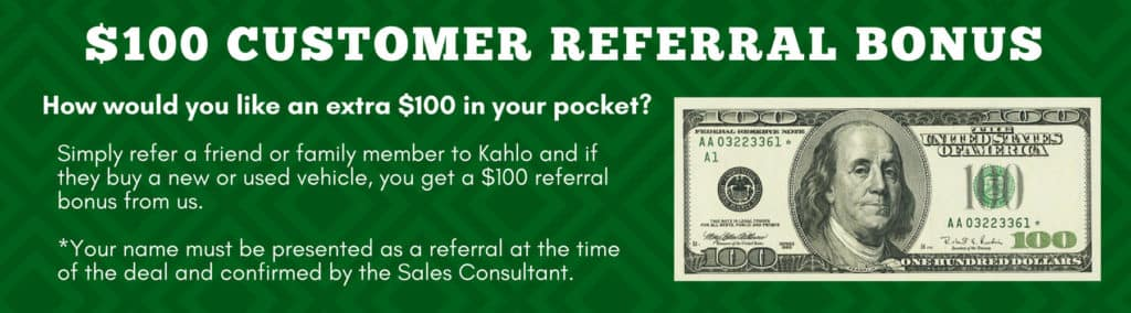 $100 Customer Referral Bonus