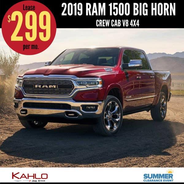 2019 Ram 1500 Lease Deal