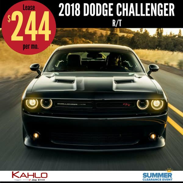 2018 Dodge Challenger Lease Deal