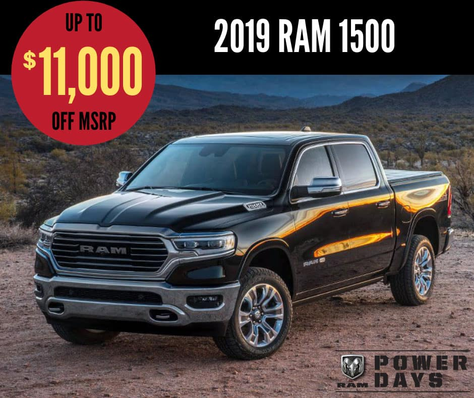2019 Ram 1500 Sale - Ram Power Days