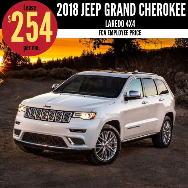 2018 Jeep Grand Cherokee Lease Deal