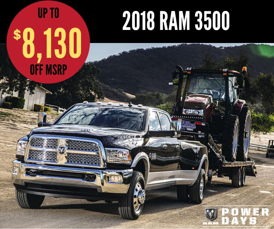 2018 Ram 3500 Sale - Ram Power Days