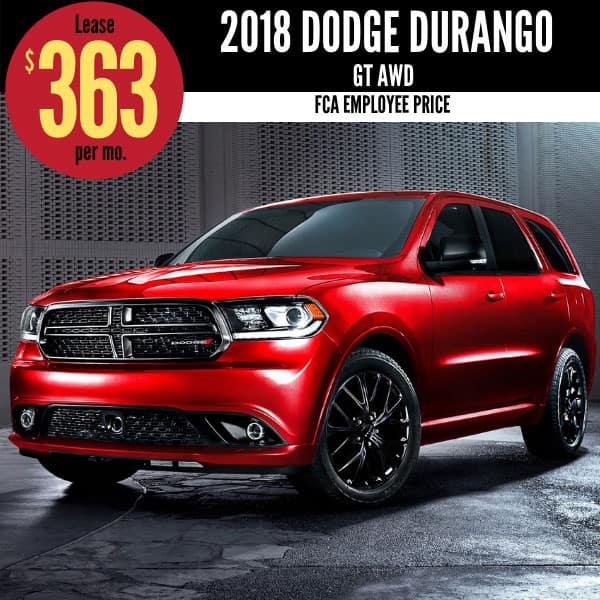2018 Dodge Durango Lease Deal