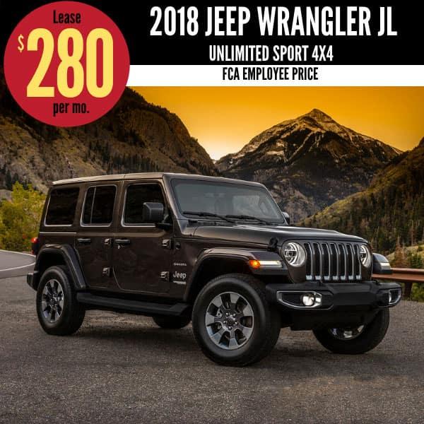 2018 Jeep Wrangler JL Lease Deal