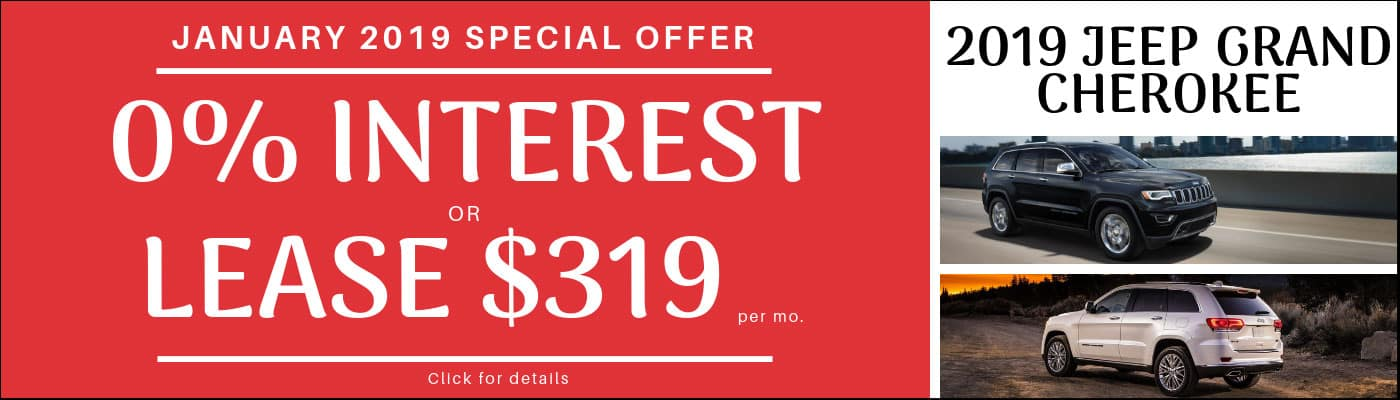 2019 Jeep Grand Cherokee Monthly Deals