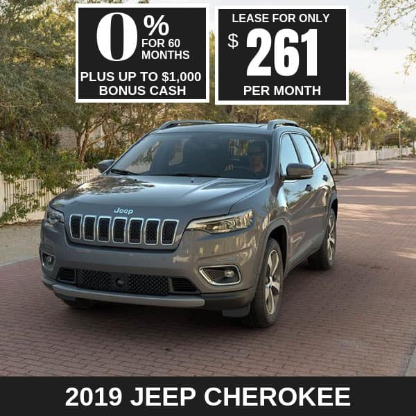 2019 Jeep Cherokee Monthly Deals