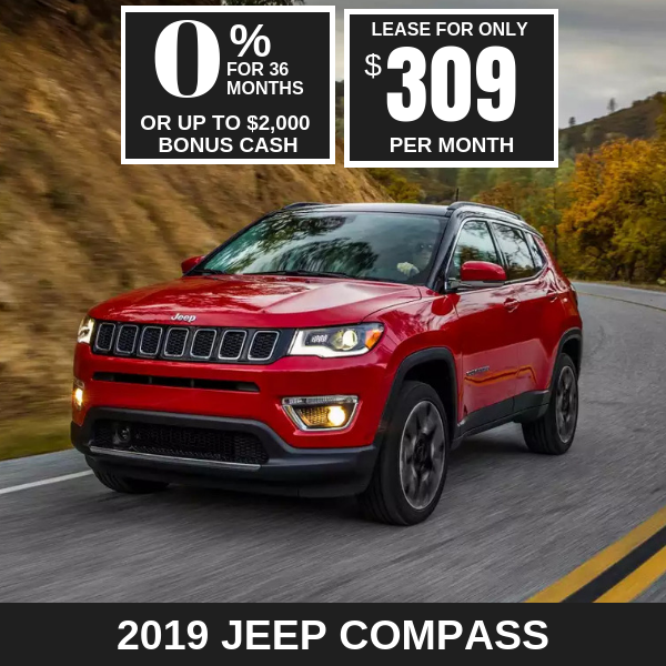 2019 Jeep Compass Monthly Deals