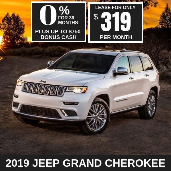2019 Jeep Grand Cherokee Monthly Deals