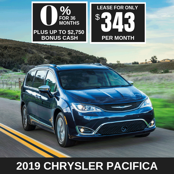 2019 Chrysler Pacifica Monthly Deals