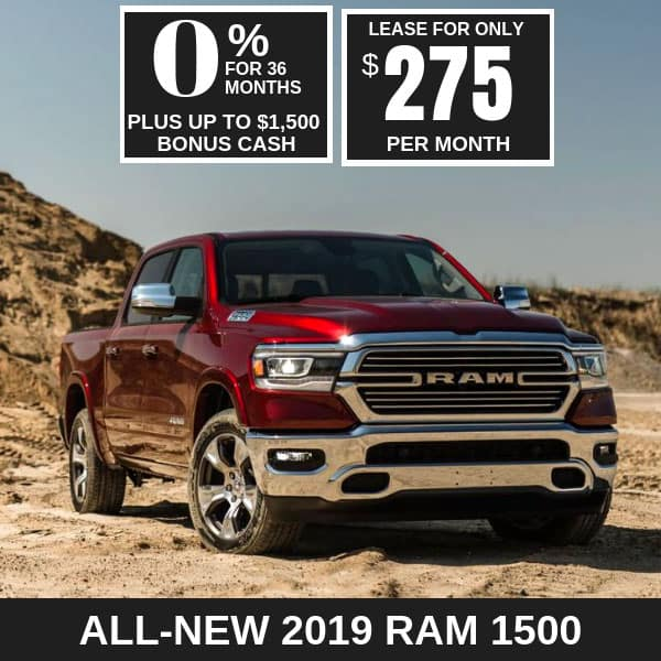 All-New 2019 Ram 1500 Monthly Deals