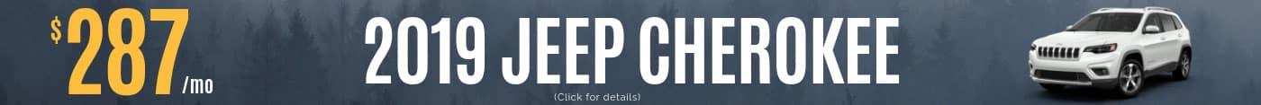 2019 Jeep Cherokee Monthly Deals