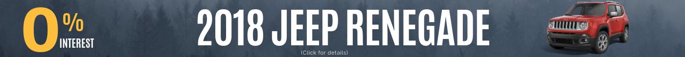 2018 Jeep Renegade Monthly Deals