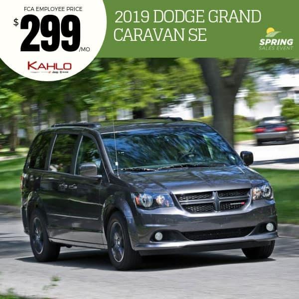 2019 Dodge Grand Caravan Lease Deal