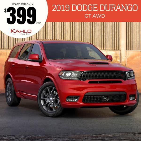 2019 Dodge Durango Lease Deal