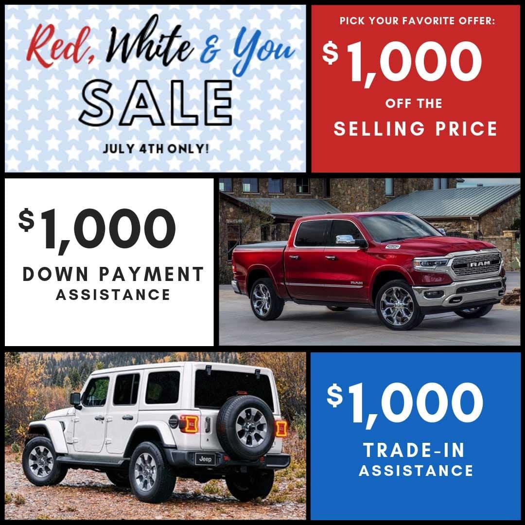 4th Of July Sales Event Kahlo Chrysler Dodge Jeep Ram Noblesville In