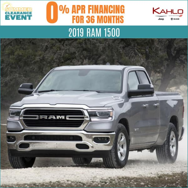 All-New 2019 Ram 1500 Lease Deal