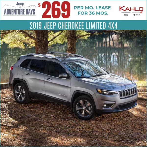 Jeep Lease Deals >> Vehicle Lease Specials Kahlo Chrysler Dodge Jeep Ram In