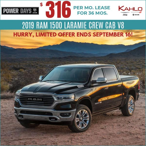 Cheapest Lease Deals >> Vehicle Lease Specials Kahlo Chrysler Dodge Jeep Ram In