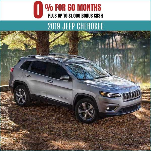2019 Jeep Cherokee Finance Deal