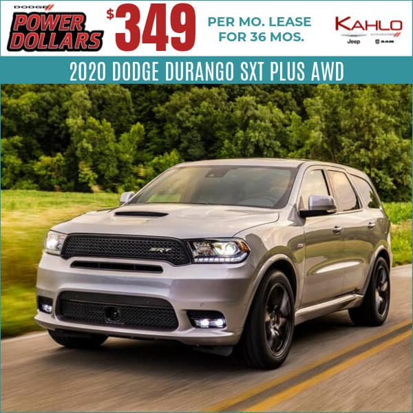 2020 Dodge Durango Lease Deal