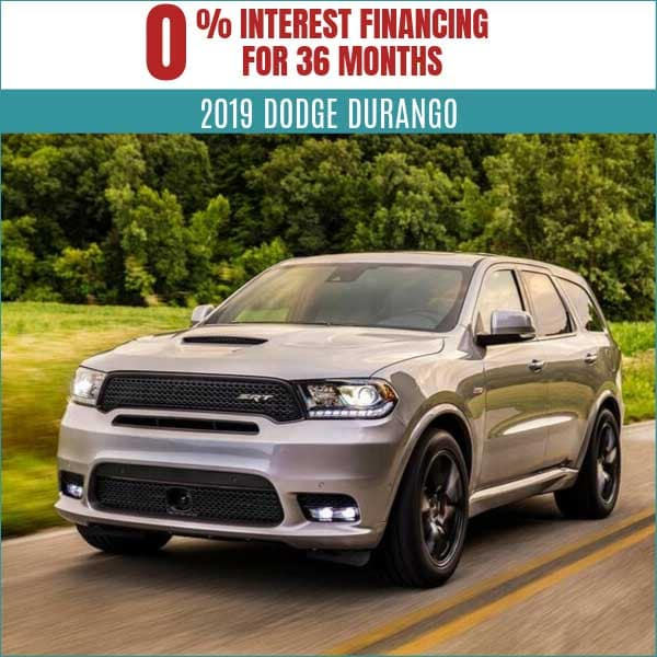 2019 Dodge Durango Lease Deal