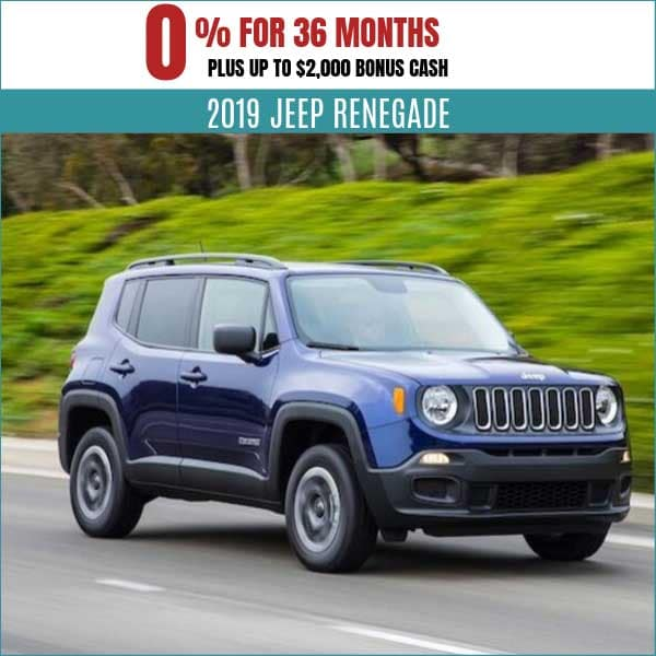 2019 Jeep Renegade Finance Deal