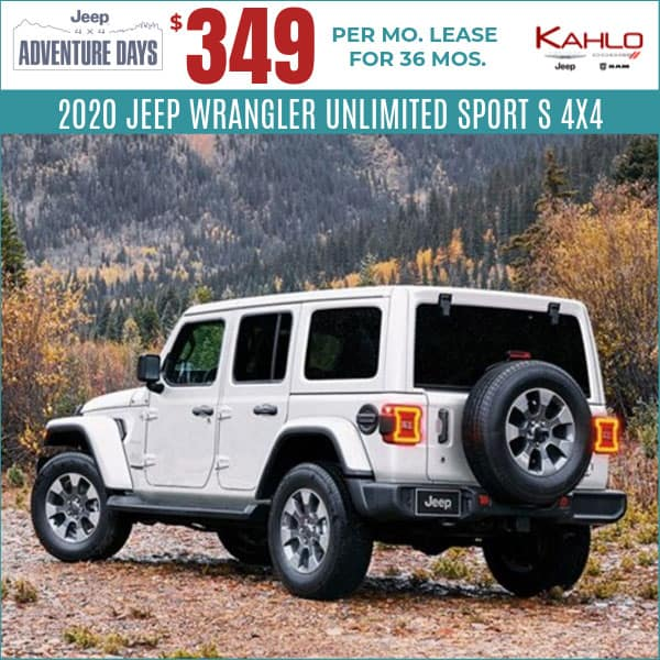 2020 Jeep Wrangler Lease Deal