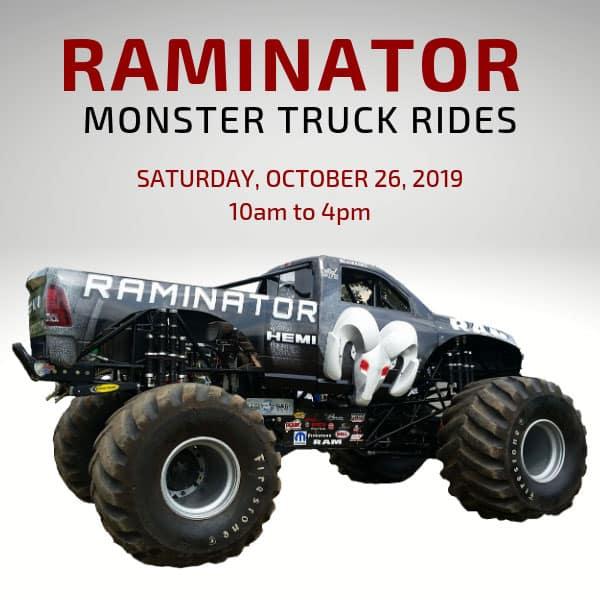 Raminator Monster Truck Ride Kahlo Chrysler Dodge Jeep Ram