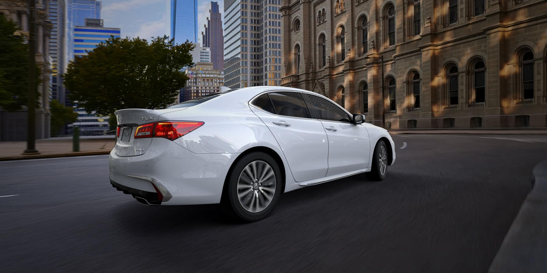 2020 Acura TLX Platinum White Pearl Rear Angle HP Slide
