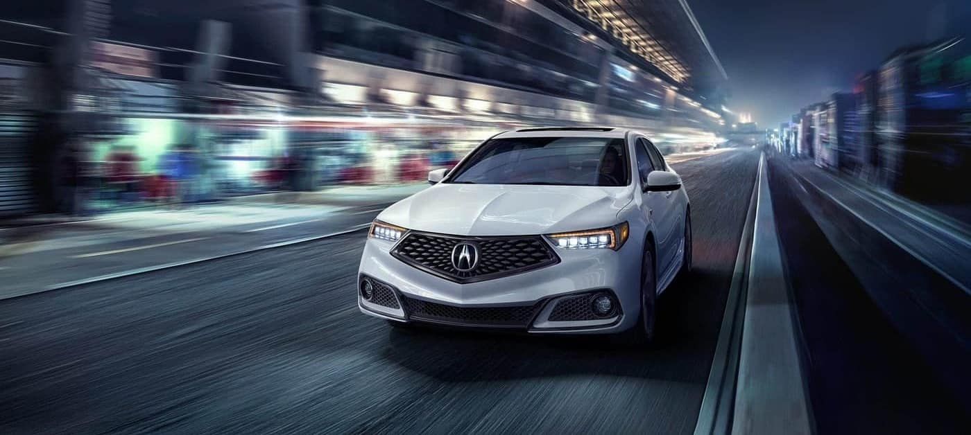 2018 Acura TLX Night Driving