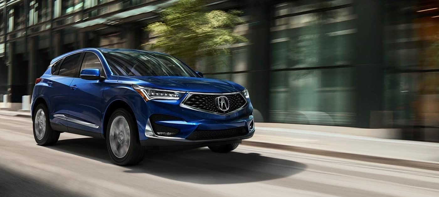 2019 Acura RDX Blue Driving