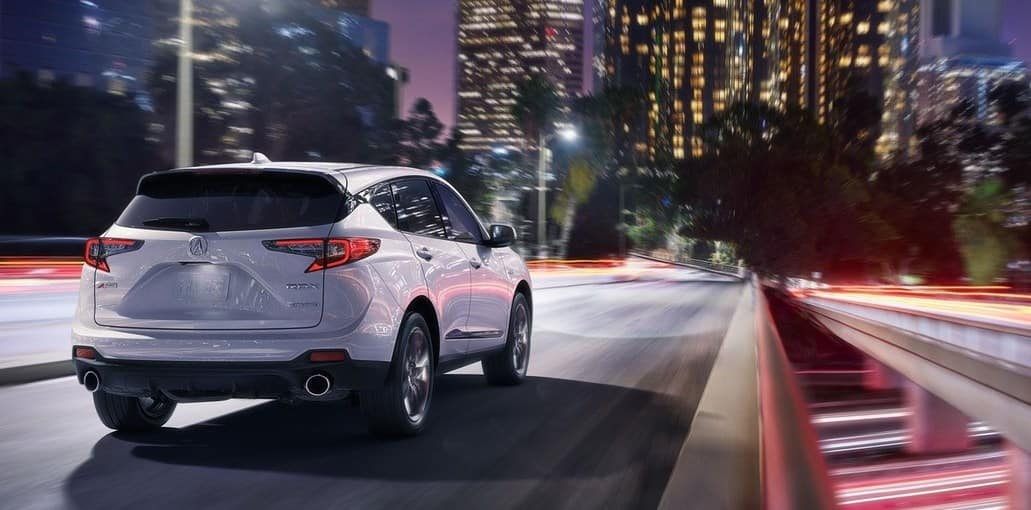 2019 Acura RDX White Night Driving