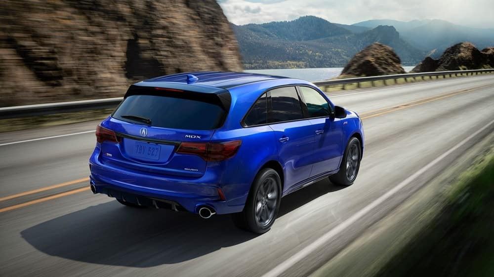 2019 Acura MDX Blue Driving