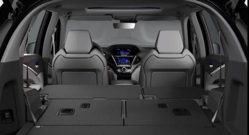 2019 Acura MDX Folded Seats