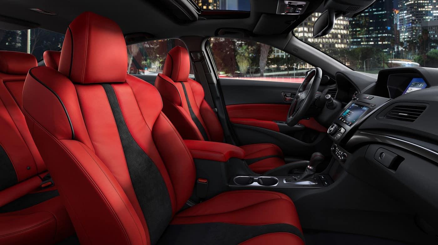 2019 Acura ILX Gray Red Interior