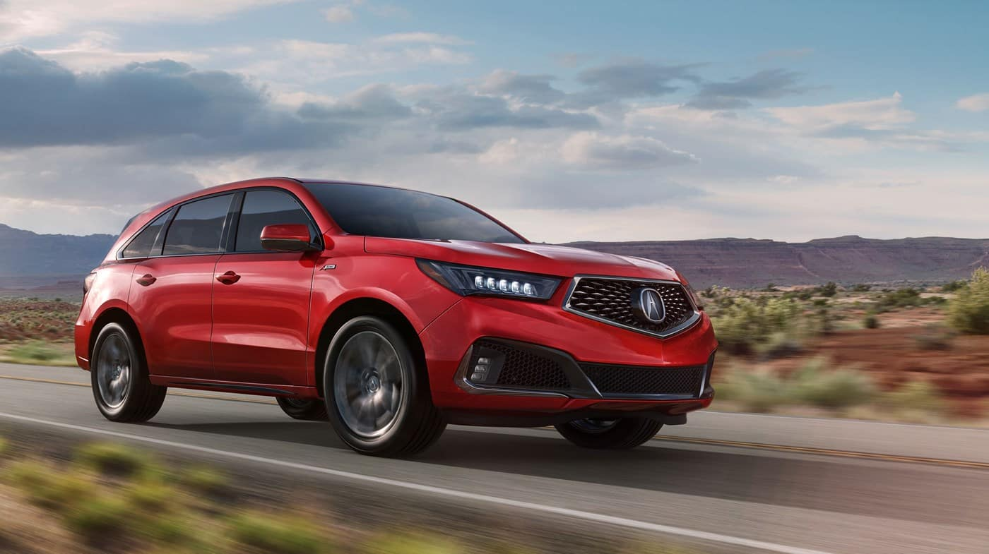 2019 Acura MDX Red Exterior Driving