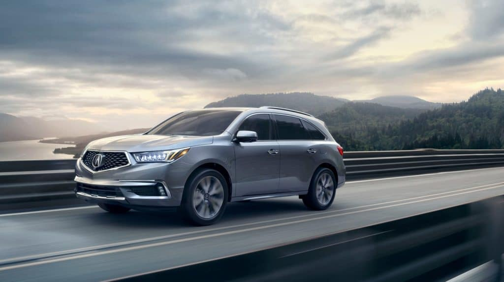 2019 Acura MDX Silver On Bridge