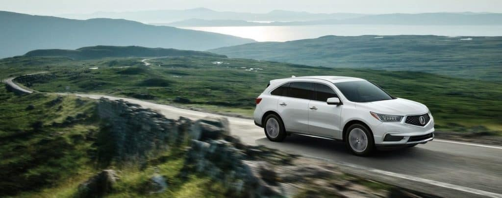 2019 Acura MDX White Mountain Driving