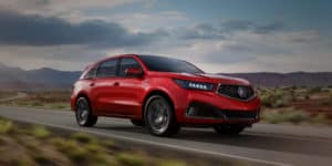 2020 Acura MDX Performance Red Pearl Front Angle HP Slide