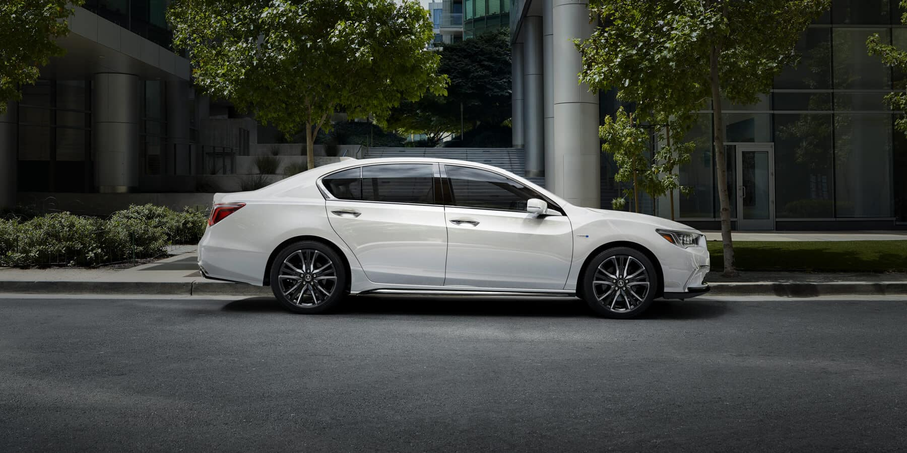 2020 Acura RLX Platinum White Pearl Side Profile HP Slide