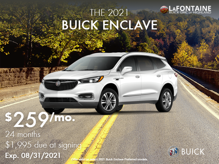 New 2021 Buick Enclave Preferred Front Wheel Drive SUV