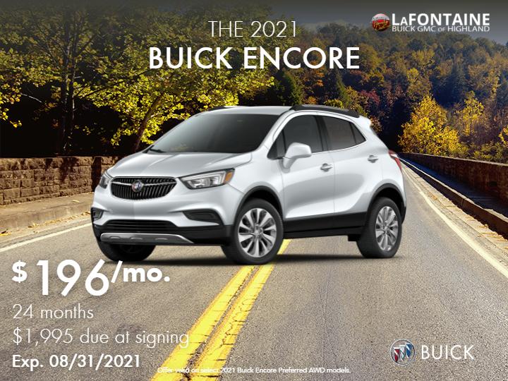DEMO - New 2021 Buick Encore Preferred All Wheel Drive SUV