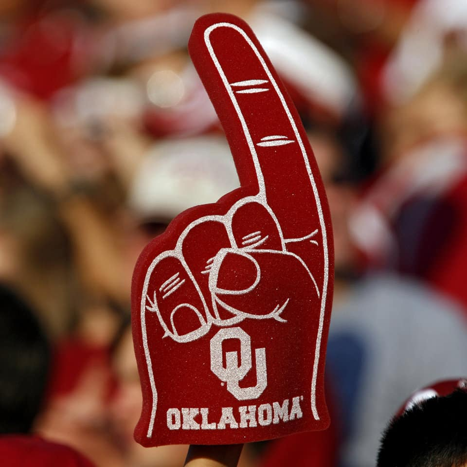 OU Oklahoma Sooners foam finger number one